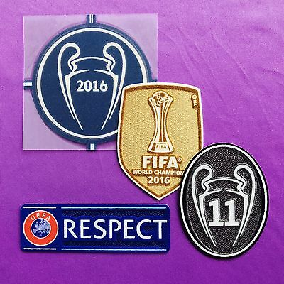 2016-17 Real Madrid UCL Full set. Respect patch. Starball patch.SportingID.