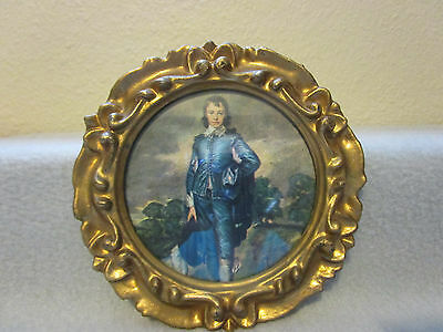 "Oval Victorian Style frame with""""BOY IN BLUE""""PRINT (S2/110)"