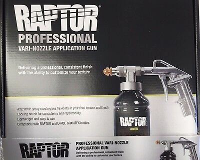 Upol Raptor Bedliner Vari-Nozzle Spray Gun Variable Schultz application Gun