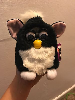 1998 furby l black and white in original box  opened but never use