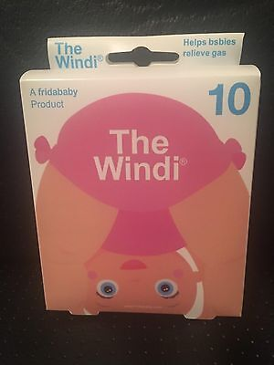 """10 Pack FridaBaby """"The Windi"""" Baby Infant Gas Colic Relief (10 - 50 Count Packs)"""