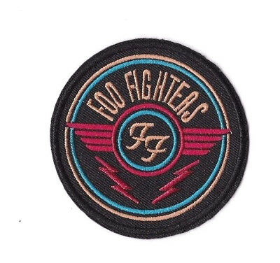 FOO FIGHTERS BLACK IRON ON PATCH Embroidered Badge Band Sew MUSIC PT205