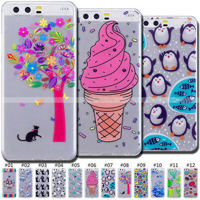 Rubber TPU Case Silicone Soft Cover Shockproof Protective Skin For Huawei P10