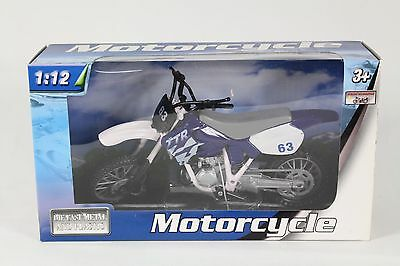 Teama Toys Diecast Motorcycle Model TT5225 ( Blue ) , 1:12 Scale