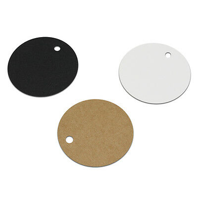 Blank Round Kraft Paper Hang Tags Clothing Price Tag Wedding Party Favor Cards