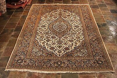 CIRCA 80's  LIGHT COLOR CITY RUG HAND KNOTTED PERSIAN RUG  303X195