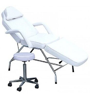 Makeup Facial Teeth Whitening Brow Threading Beauty BED WITH STOOL - WHITE