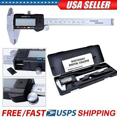 "6"" Digital Vernier Caliper LCD Electronic 150mm Gauge Stainless Steel Ruler"