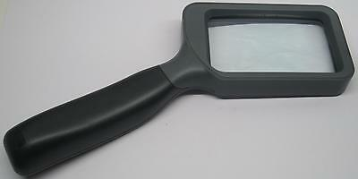 #532 Handlupe Lupe 2,5X 85x50 mm. Glas-Linse / hand held magnifier glass lens