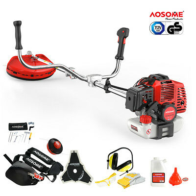 AOSOME 52cc Petrol Grass Strimmer Brush Cutter Trimmer 2.2KW 3HP +   Spark Plug