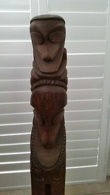 HEAVILY REDUCED - Vintage Vanuata Two Head Tam Tam Slit Gong Drum - 1.2m Tall
