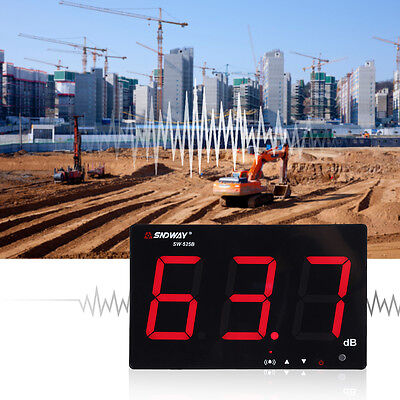 """9.6"""" LCD Digital Sound Level Meter Wall Hanging 30-130dB Noise Tester For Office"""