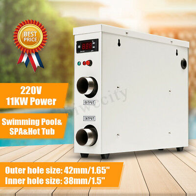 AC 220V 11KW Swimming Pool & SPA Hot Tub Electric Water Heater Thermostat AU
