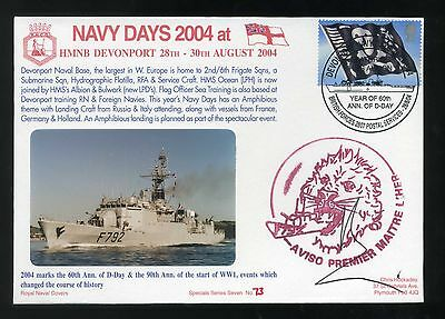 2004 Royal Navy Days Cover F792 signed