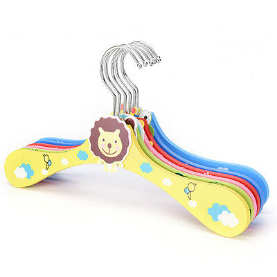 Creative Baby Child Cute Cartoon Animals Wooden Coat Hanger Clothes Rack NIUK