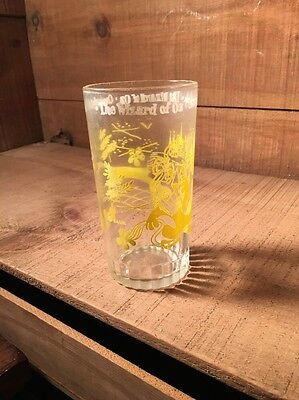 VINTAGE WIZARD OF OZ PEANUT BUTTER GLASS - Cowardly Lion