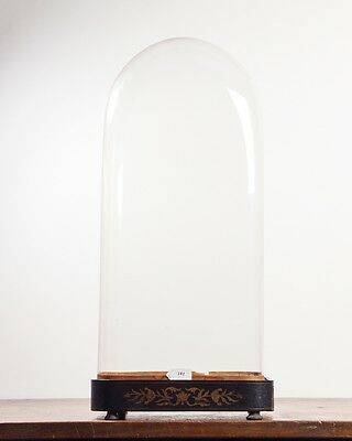 SQUARE GLASS DOME 58.5CM X 26.5CM X 17.5CM victorian clock taxidermy antique