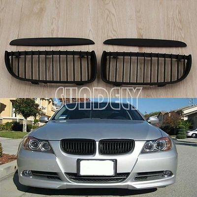 MATTE BLACK KIDNEY Sport Grilles Grill For BMW E90 3-Series