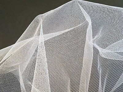 WHITE - SOFT TULLE MESH FABRIC MATERIAL - WEDDING DRESSES - 280cm WIDE*