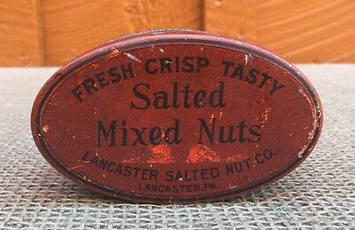 Vintage Salted Mixed Nuts Tin by Lancaster Salted Nut Co., Lancaster PA