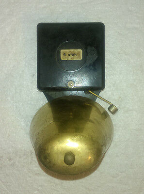 Vintage Art Deco Bakelite  Electric Door Bell Brass Tone Ringer