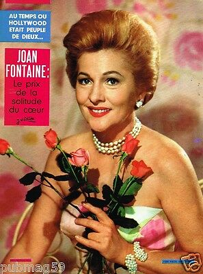 F- Coupure de Presse Clipping 1966 (3 pages) Joan Fontaine