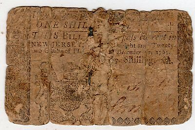 UNLISTED IN NEWMAN Pin Money New Jersey 1 Shilling 1763 See Scan