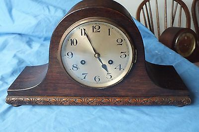 Antique Jughans Wurttemberg German  Napoleon Hat  Mantel Clock