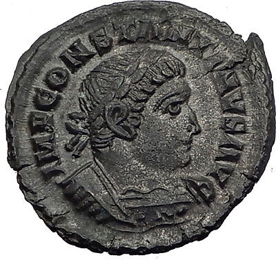 CONSTANTINE I the Great 314AD London Londinium RARE Ancient Roman Coin i64009