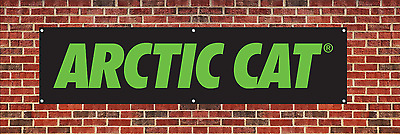 Arctic Cat Banner Poster dealer advertising sign Man Cave Garage 2' x 7' NEW