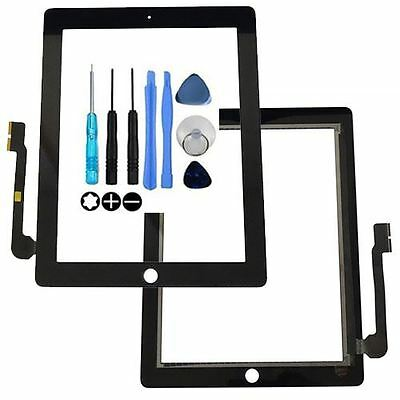 Black Screen For Apple iPad 3 / 4 Touch Digitizer Glass Replacement
