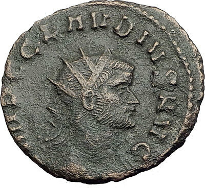 CLAUDIUS II Gothicus 268AD Rome Authentic Ancient Roman Coin SALUS HEALTH i63601