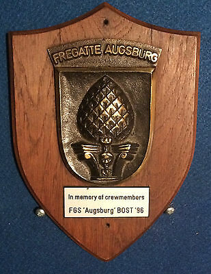 Fgs Augsburg F213 German Navy Frigate Wall Plaque In Excellent Condition