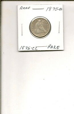 1875-CC 90% Silver Seated Liberty Twenty Cent Piece Coin! RARE!