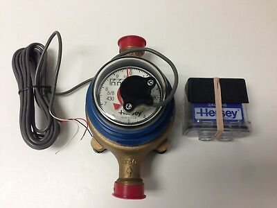 Hersey Model 430, 5/8 x 3/4 Bronze Water Meter, Reading in Gallons with Remote