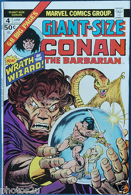 CONAN Giant-Size #4 Marvel Gil Kane and Barry Smith art Wrath of the Wizard Fine
