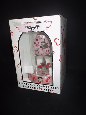 Betty Boop Anniversary Clock Porcelain And Glass New In Box New