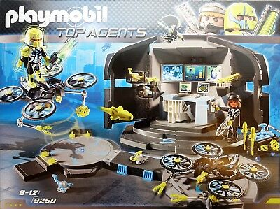 Playmobil 9250 Top Agents Dr. Drone´s Command Center  NEU & OVP