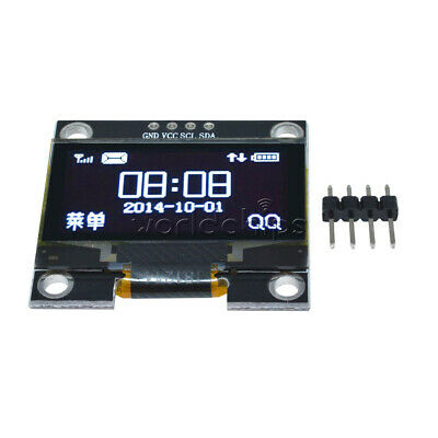 "1.3"" White OLED LCD 4PIN Display Module IIC I2C Interface 128x64 for Arduino"