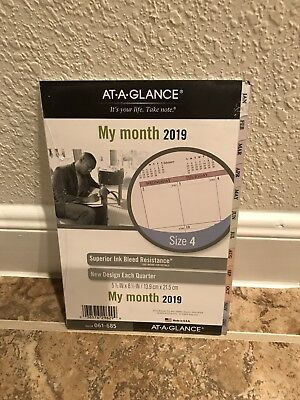 At-A-Glance Planner Refill 2019 Size 4 Jan Dec Monthly Traditional Pastel Tabbed