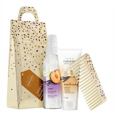 Avon Naturals Sugar Plum & Vanilla Handbag Gift Set  In Sealed Box