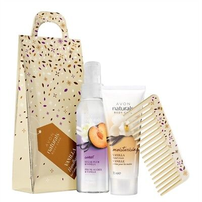 Avon Naturals Vanilla Handbag Gift Set  In Sealed Box
