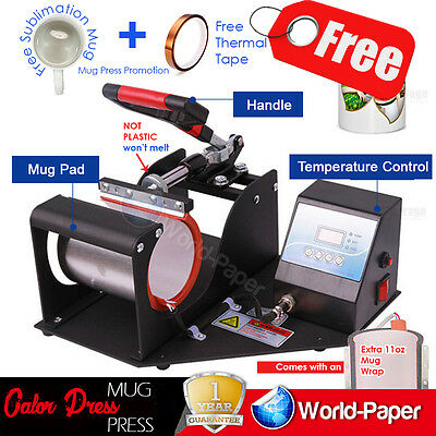 350W Digital Display Heat Press Transfer Sublimation Machine for Cup Mug V 3.0