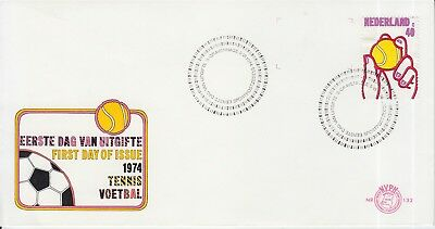 Tennis FDC The Netherlands 1974