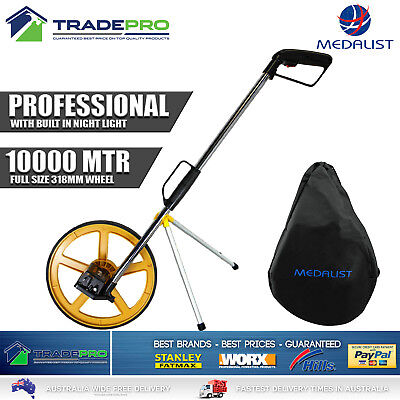 Measuring Wheel 10000M PRO Medalist 318mm Distance Night Light Carry Bag Folding