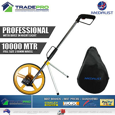 Measuring Wheel 10KM PRO Medalist 318mm Distance Night Light Carry Bag Folding