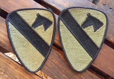 U.S.Army 1st Calvary Division Subdued OG and Black lot of 2  patch patches