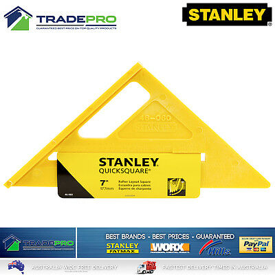 """Stanley® Quick Sqaure Combination 180mm 7"""" PRO Triangle Builders Right Angle"""