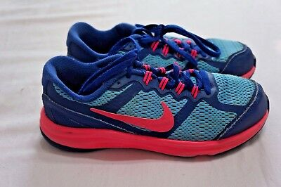 Nike Fusion Run 3 Athletic Sneaker Shoes Kids Girls's Size 2.5 Youth Blue Pink