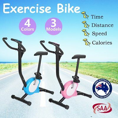 EXERCISE BIKE SPIN FLYWHEEL HOME FITNESS GYM LCD Screen MONITOR HEAVY DUTY AUSD